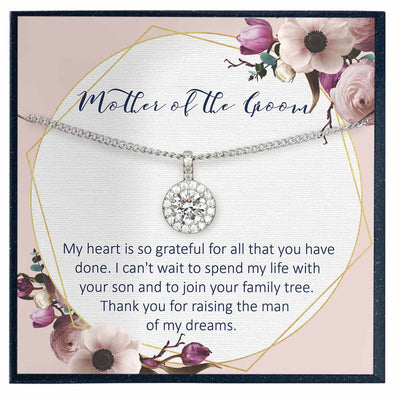 Mother of the Groom Necklace from Bride, Mother in Law Necklace Gift - Grace of Pearl