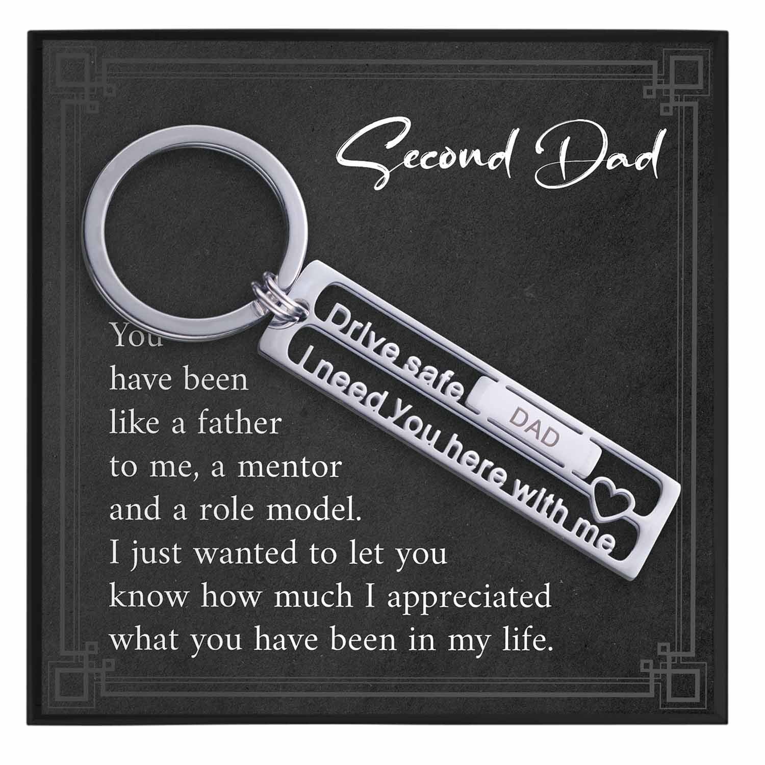 Second Dad Keychain Gift