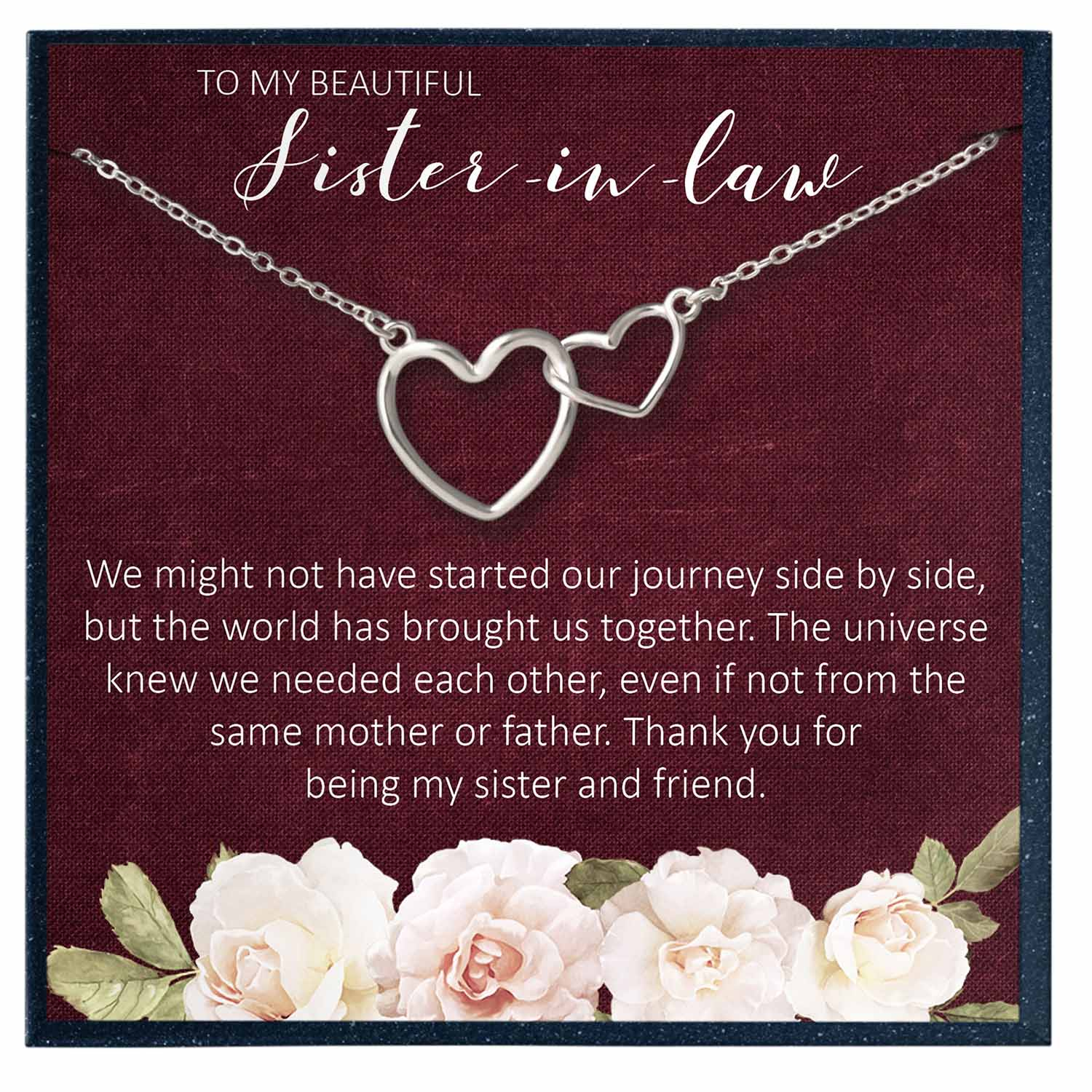 Sister in Law Wedding Gift from Sister in Law, Sister in Law Necklace