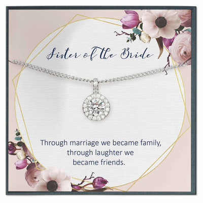 Sister of the Bride Gift from Groom, Future Sister in Law Necklace Gift