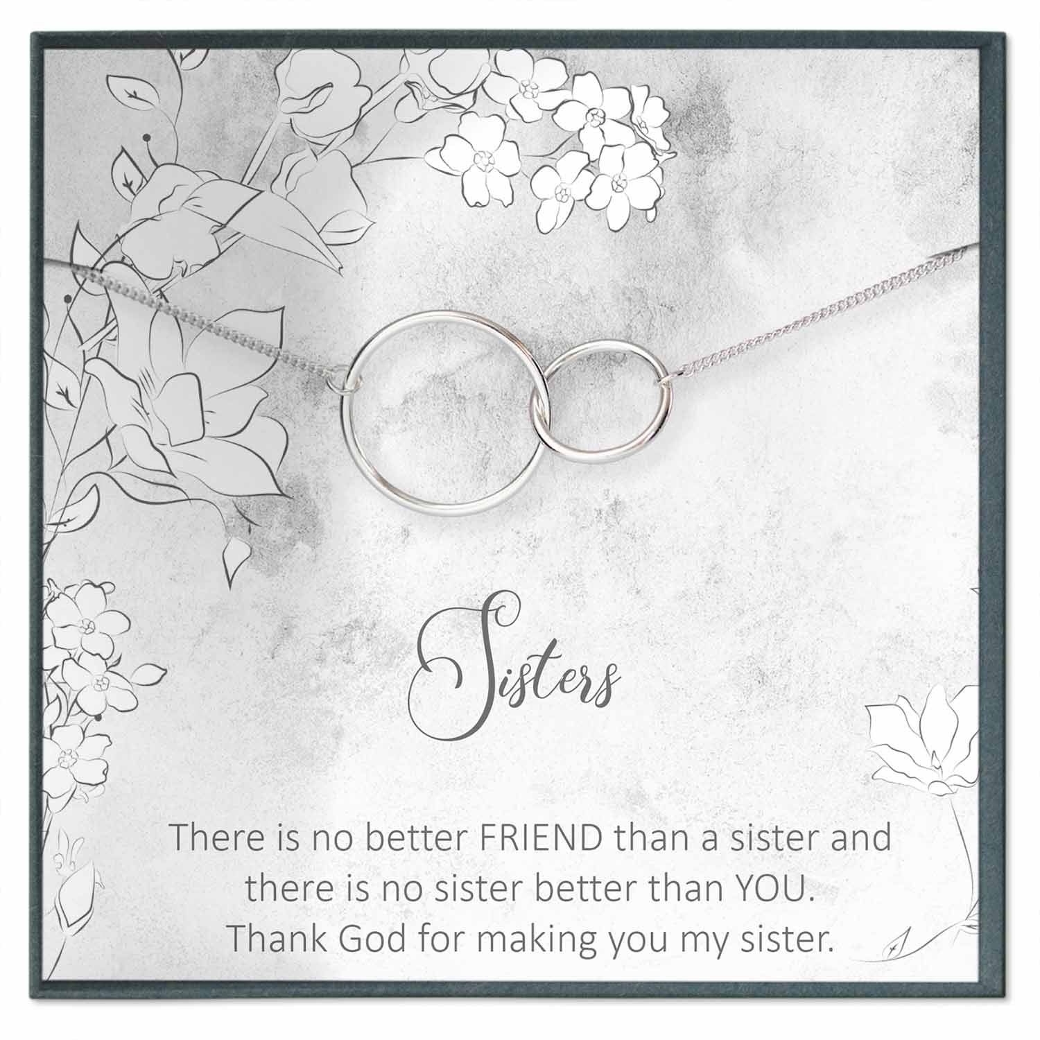 Sister Necklace Gift, Personalized Sister Gift