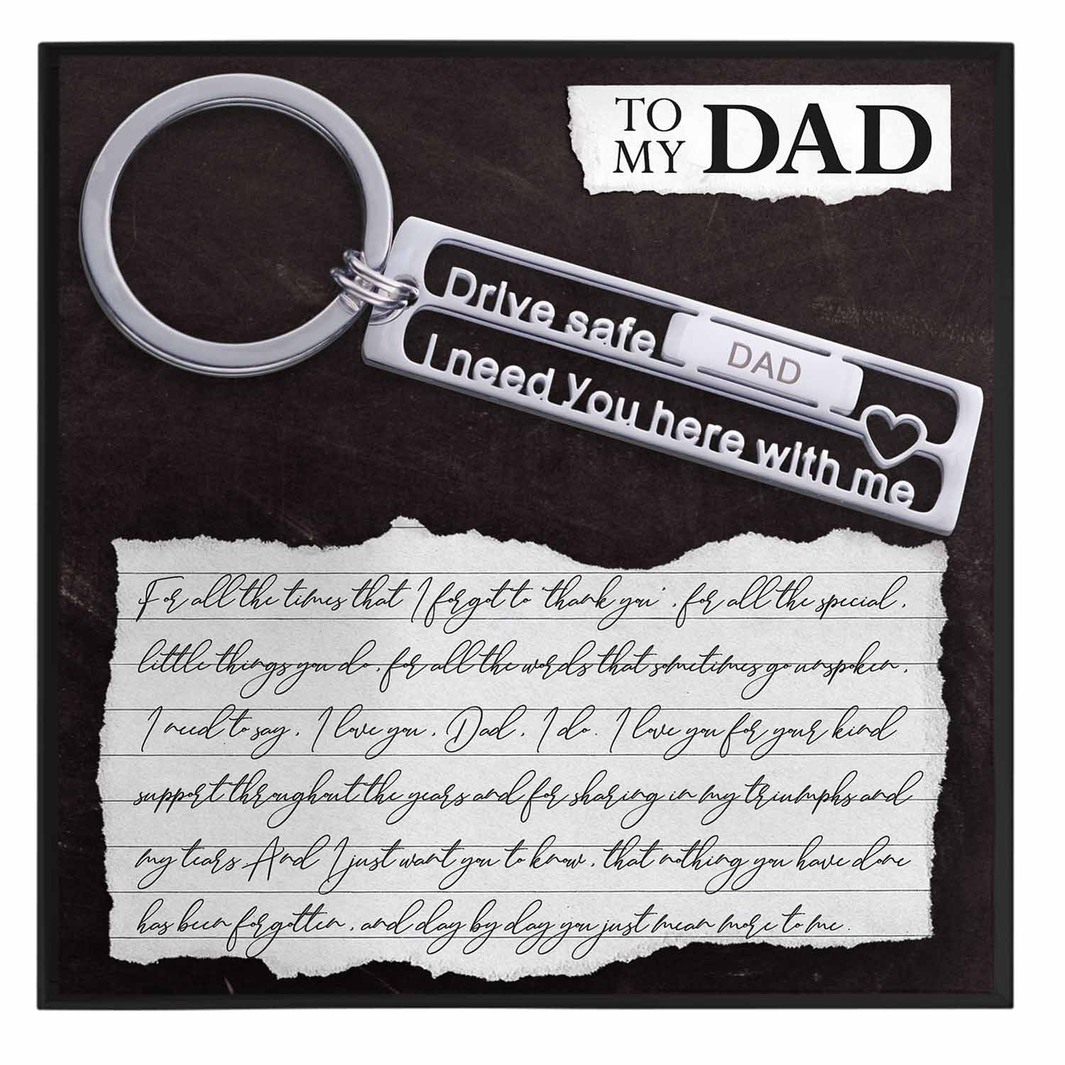 To My Dad Keychain Gift