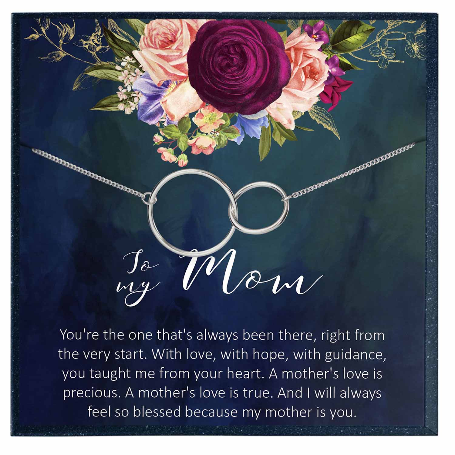 To My Mom Gift, Mother's Day Jewelry Gift for Mom