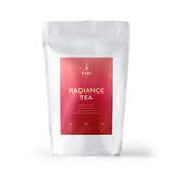 radiance tea glow skincare rose roselle rejuvenate
