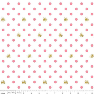 Ahoy! Mermaids White Sparkle Dots  Yardage | SKU #SC10343-WHITE - Stitches n Giggles