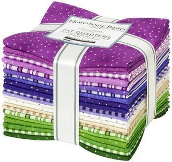 Flowerhouse Basics Lilac Fat Quarter Bundle | 23 Pieces