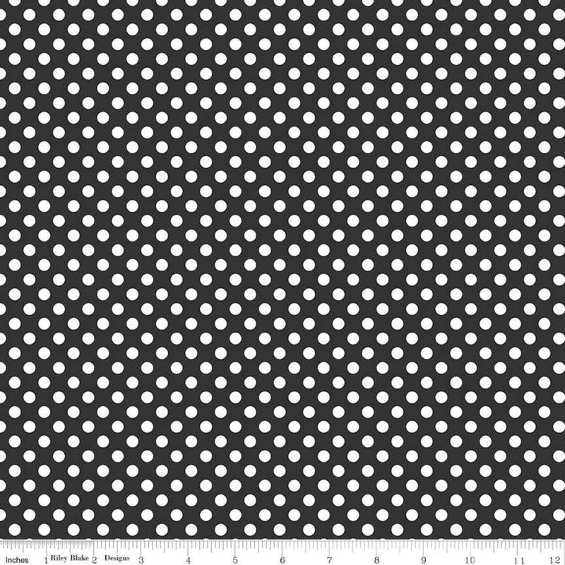 Black Small Dots Yardage by Riley Blake Designs | SKU #C350-110