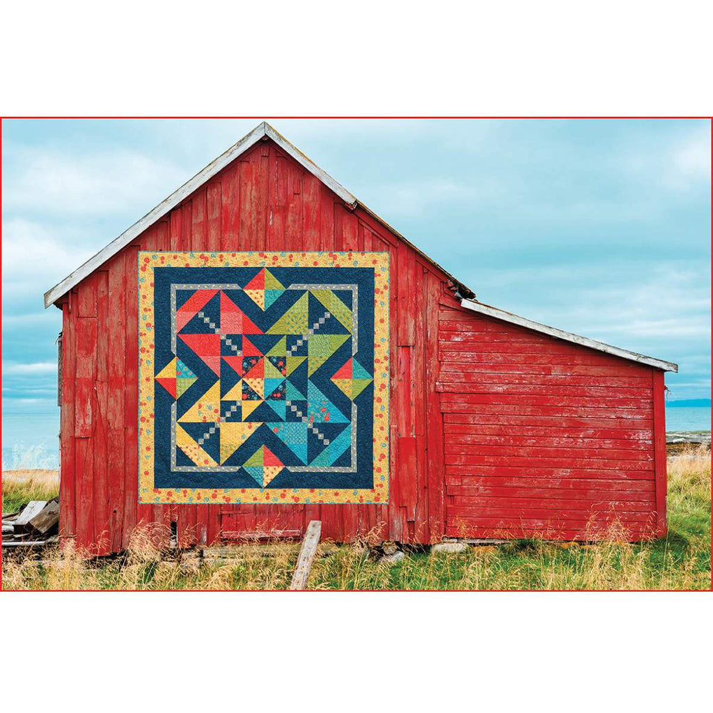 Red Barn With Starburst Quilt Puzzle - 1000 Pieces