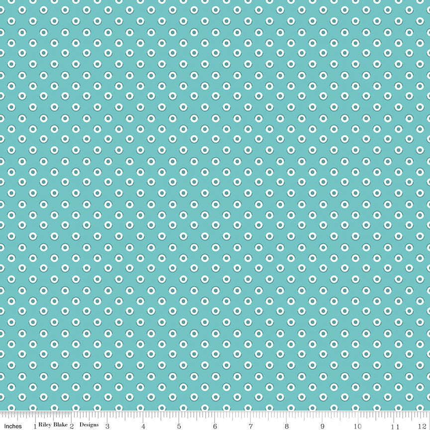 Flea Market Cottage Polka Dot Yardage (C10215 COTTAGE)