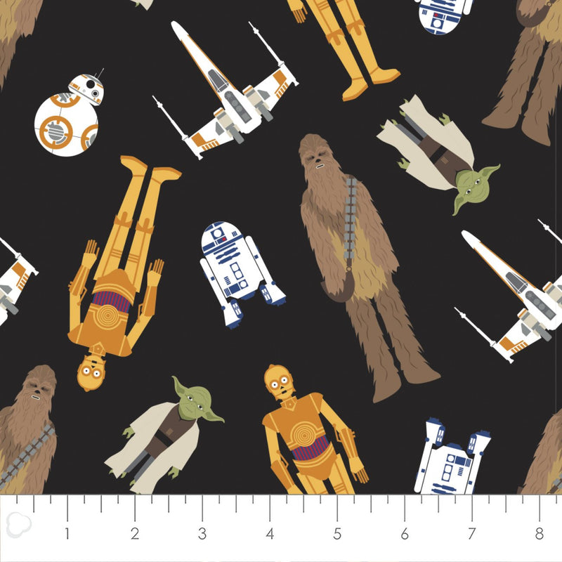Star Wars Tossed in Space Yardage (73011106) Star Wars Fabric