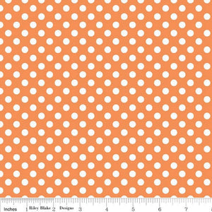 Orange Small Dots by Riley Blake Design (C350 60) Cut Options Available