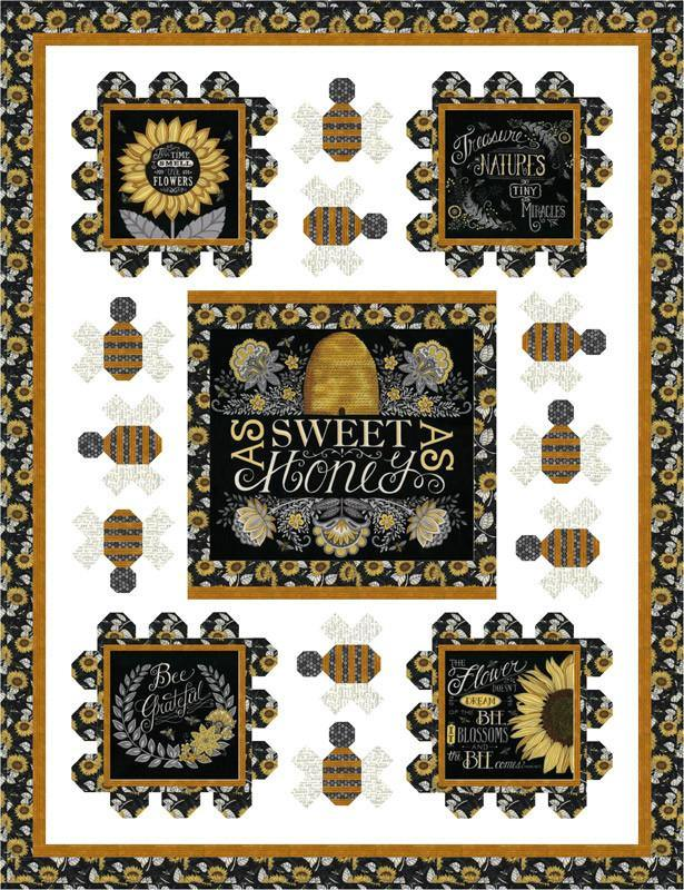 Sweet As Honey Quilt Kit by Deb Strain using Bee Grateful Fabric