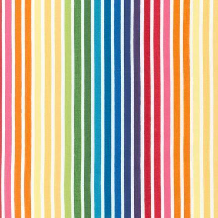 Ann Kelle's Remix Bright Rainbow Stripe Yardage (10397 195)