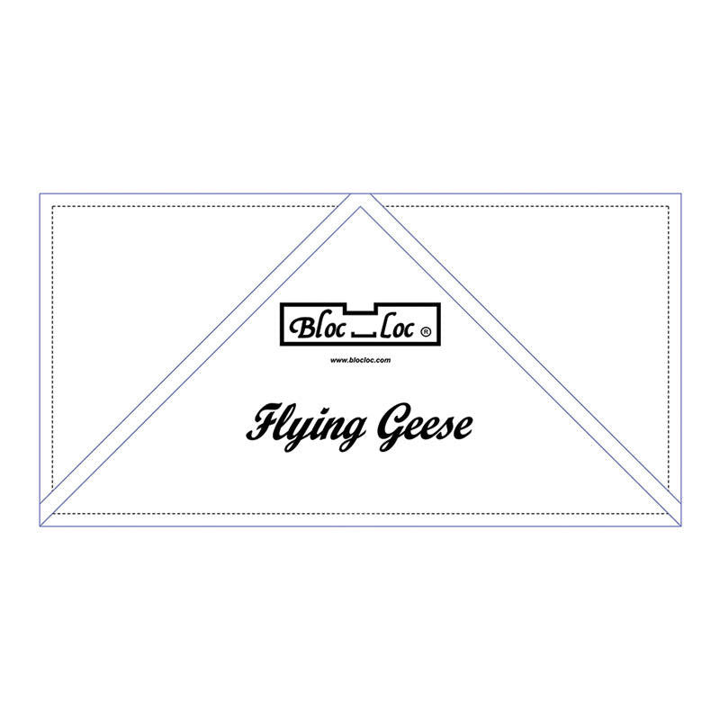 "Bloc Loc - Flying Geese Ruler  5"" x 10"" - Quilting Tool"