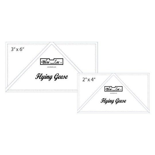 "Bloc Loc Flying Geese Ruler Set 3: 2"" x 4"" and 3"" x 6"""