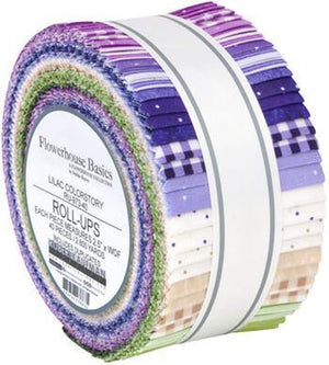 Flowerhouse Basics Lilac Roll-Up | 40 Pieces - Stitches n Giggles