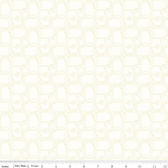 Yellow Cannin Jar Bee Backgrounds Yardage (C6385 YELLOW)