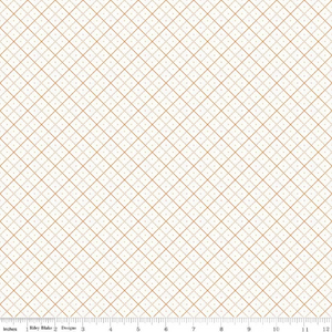 Bee Backgrounds Orange Grid Yardage (C6383 ORANGE)