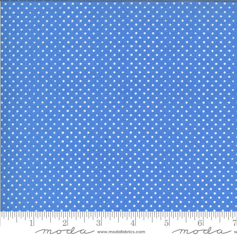 On The Farm Blue Spots Dots Yardage (20708 21)