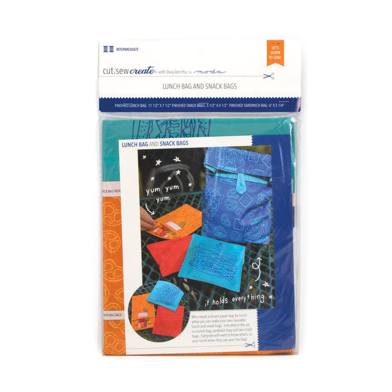 Lunch Bag and Snack Bags Cut, Sew, Create Panel by Stacy Iest Hsu - Perfect Sewing Projects for Beginners and Children!