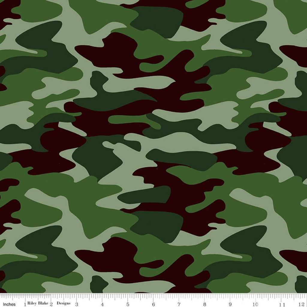 Nobody Fights Alone Green Camo Yardage (C10420 GREEN)