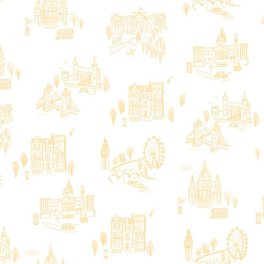 PRESALE Notting Hill Yellow London Yardage | SKU #C10201-YELLOW