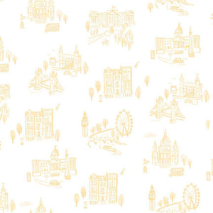 Notting Hill Yellow London Yardage | SKU #C10201-YELLOW - Stitches n Giggles