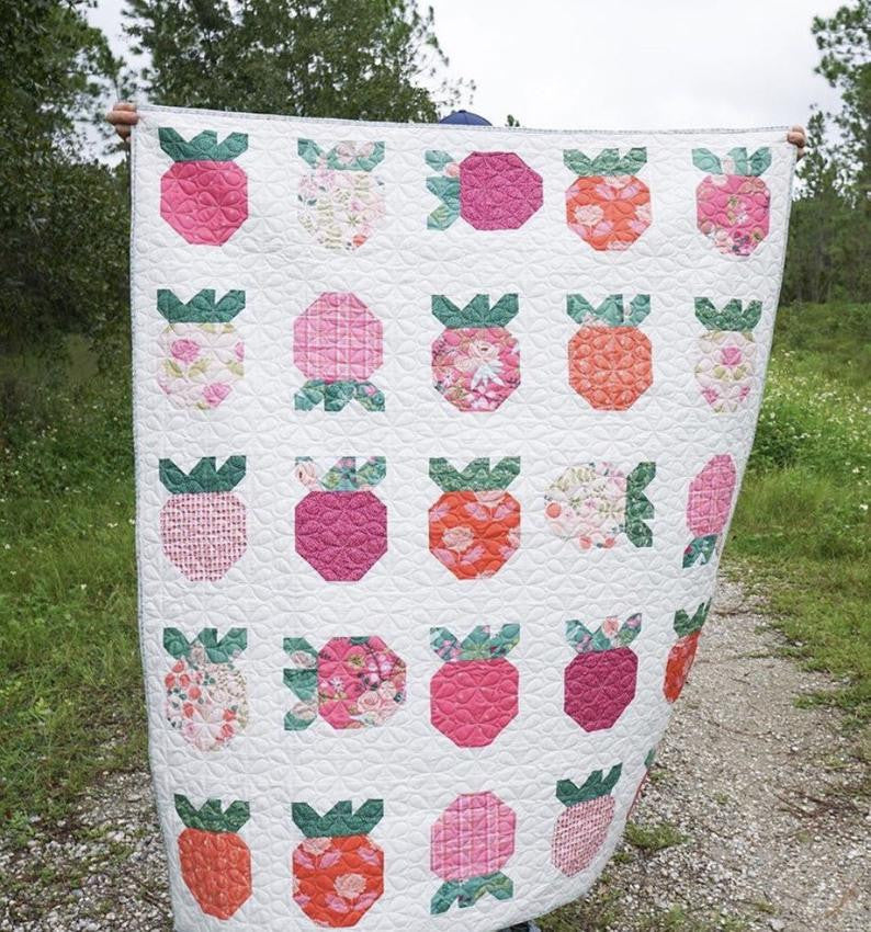 Strawberry Fields Quilt Kit