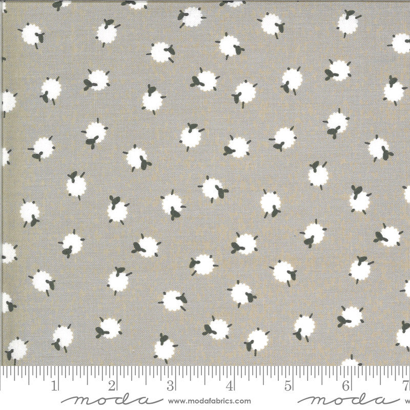 On The Farm Khaki Bah Bah Baby Sheep Yardage (20706 18)