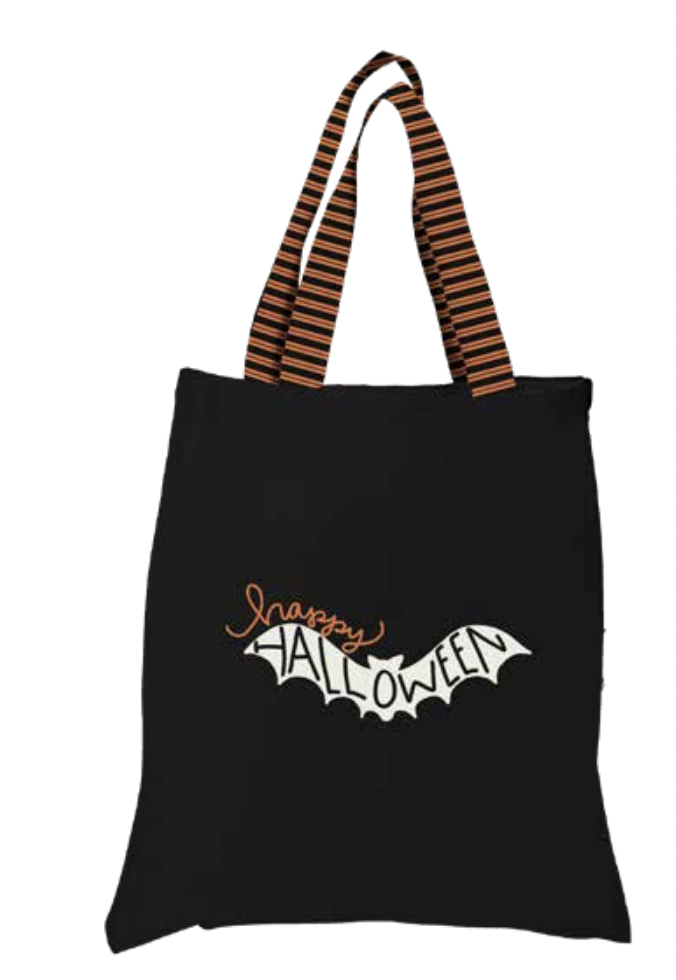Spooky Hollow Trick or Treat Tote Panel | Panel to make 2 bags | P10578-PANEL