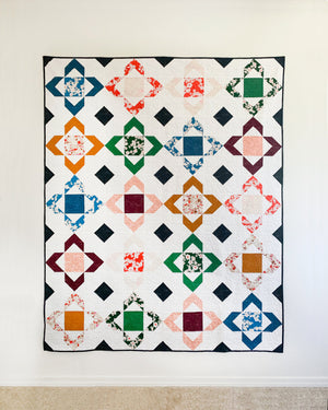Garden Gems Quilt Pattern by Cotton and Joy (CJ 105) - Quilting Pattern - Four Size Options - FQ Friendly!