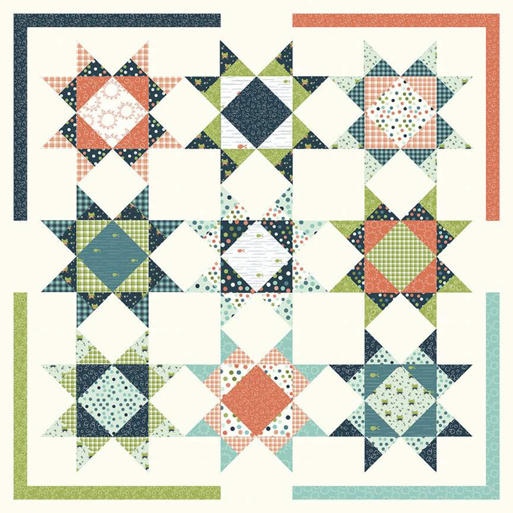 Under The Stars Quilt Pattern by Sandy Gervais
