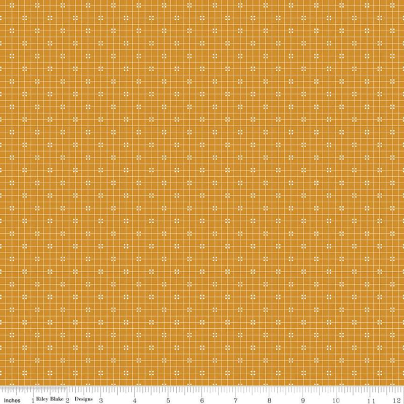 Prim Butterscotch Plaid Yardage (C9701 BUTTERSCOTCH)