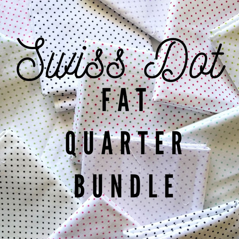 Swiss Dot Fat Quarter Bundle - Choose Your Size