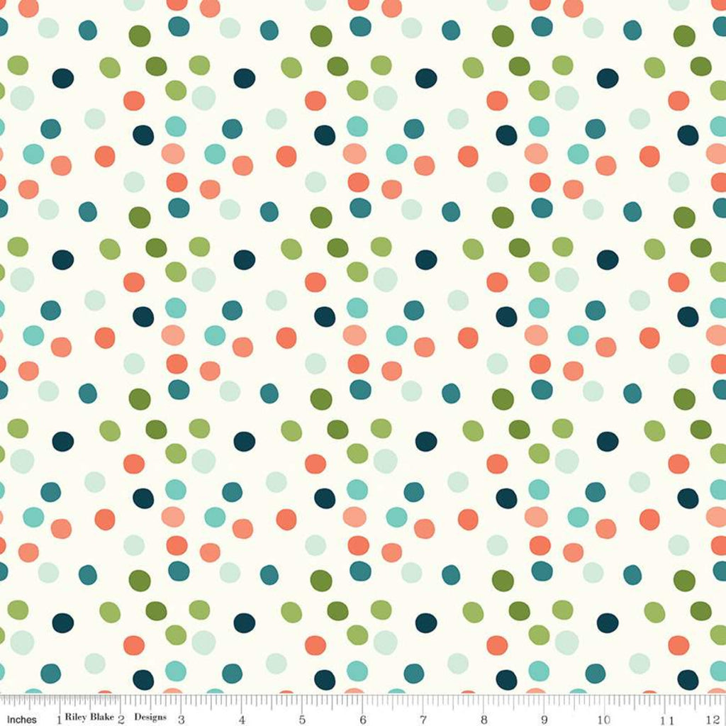 Ready Set Splash! Cream Dots Yardage (C9894 CREAM)