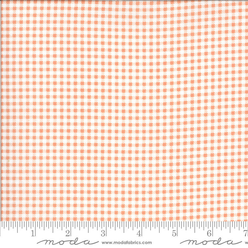 Apricot & Ash Coral Gingham Yardage (29105 12)