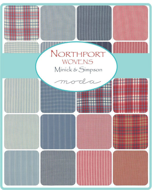 Northport Silky Wovens Tan Check by Minick & Simpson for Moda Fabrics  (12215 38) - Gingham Fabric