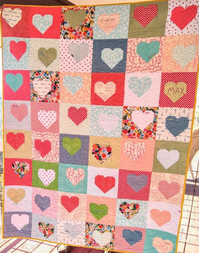 Valentine Box of Hearts Quilt Kit - 57