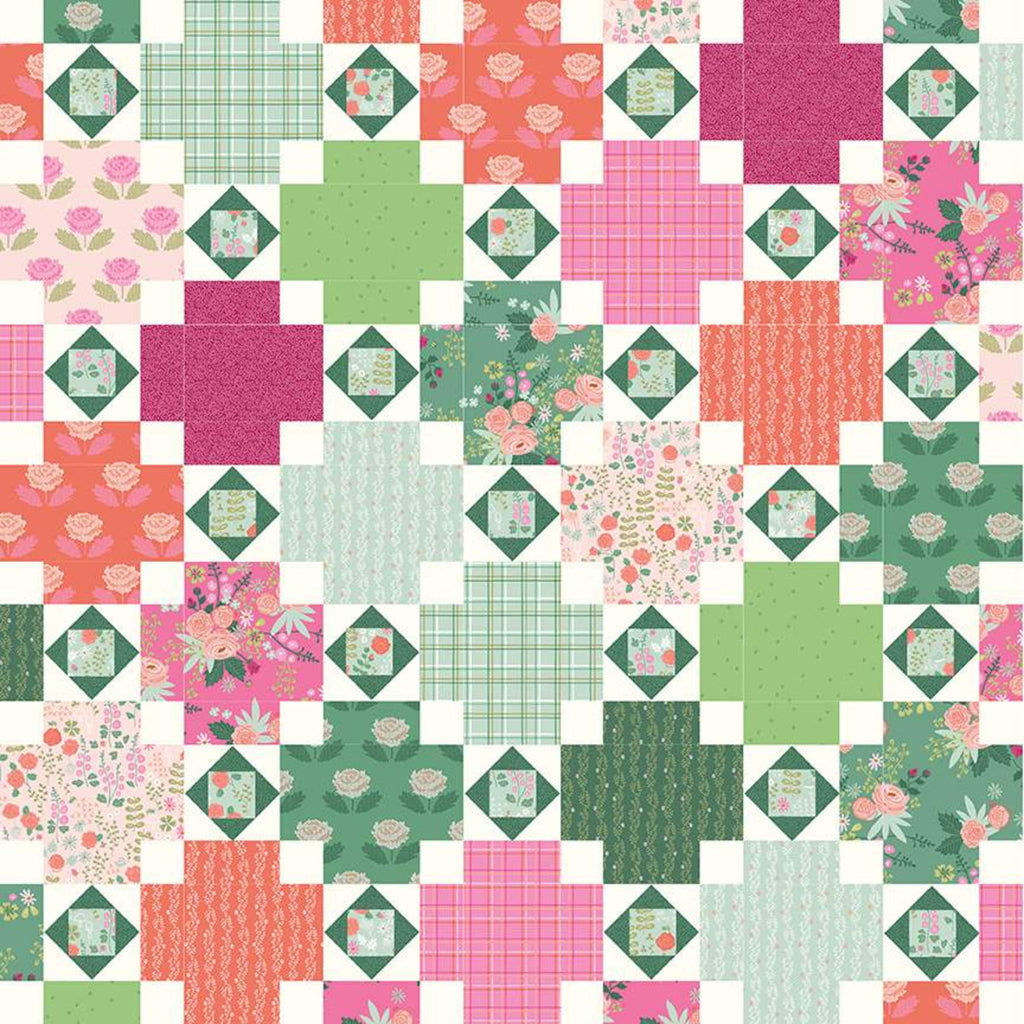 Rose Terrace Quilt Pattern by Citrus and Mint