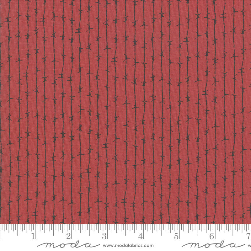 Branded Apple Red Barbed Wire Yardage (5785 11)