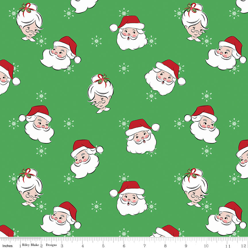 Santa Claus Lane Green Main Yardage C9610 GREEN