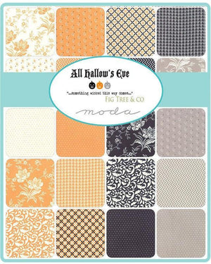 All Hallows Eve Ghost Polka Dot Circles Yardage by Fig Tree  (20354 26) - Stitches n Giggles
