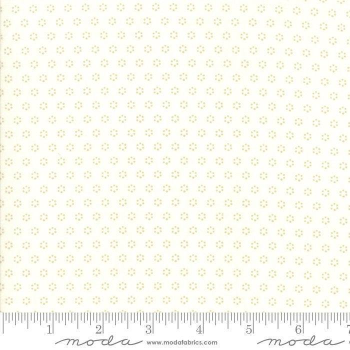 All Hallows Eve Ghost Polka Dot Circles Yardage by Fig Tree  (20354 26)