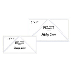 "Flying Geese Ruler Set 2 includes: 1-1/2"" x 3"" and 2"" x 4"" - Bloc Loc Ruler Set - Quilting Rulers"