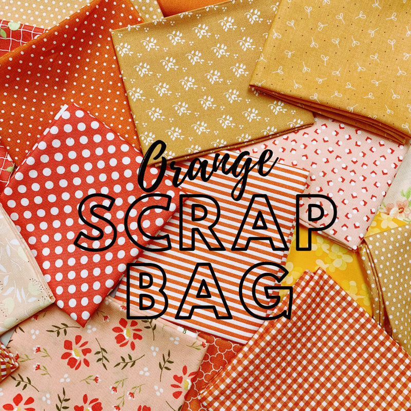 Orange Fabric Scrap Bag