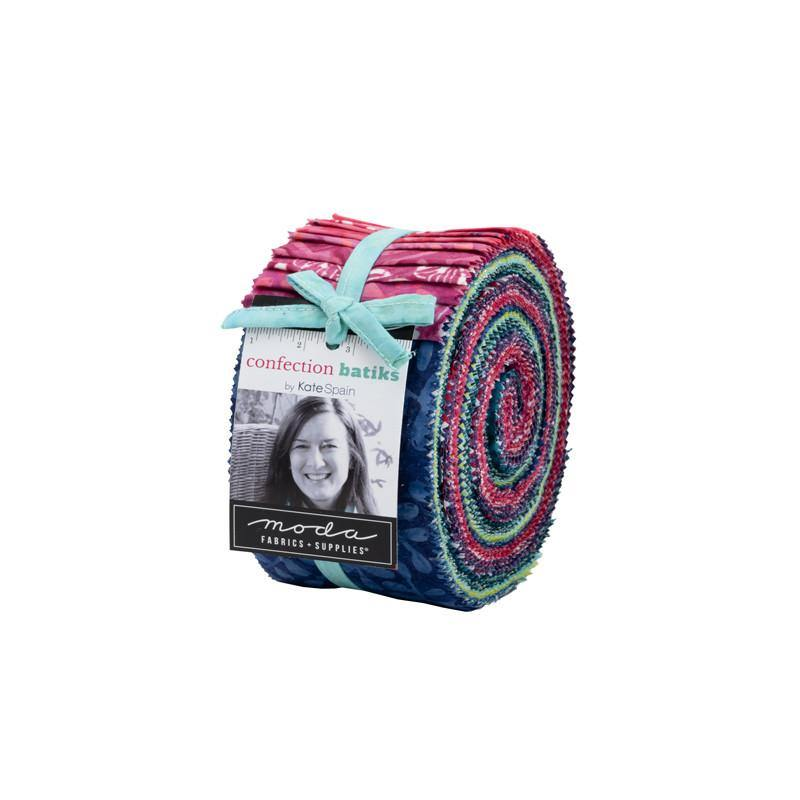 Confection Batiks Jelly Roll by Kate Spain (27310JR) - Stitches n Giggles