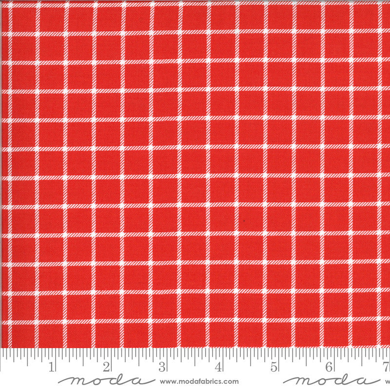 On The Farm Red Country Checker Yardage (20707 16)