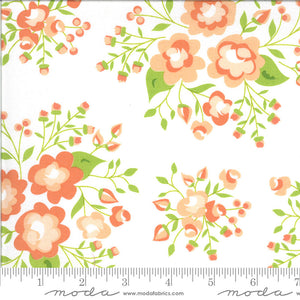 Apricot & Ash Cloud Rose Garden Yardage (29101 11)