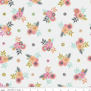 Meadow Lane Off White Posies Yardage (C10121 OFFWHITE)