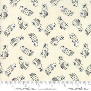 Flannel Mighty Machines Tonal Creamy Truck Toss Yardage (49022 21B)